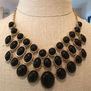 Charming Charlie black/gold earrings necklace set